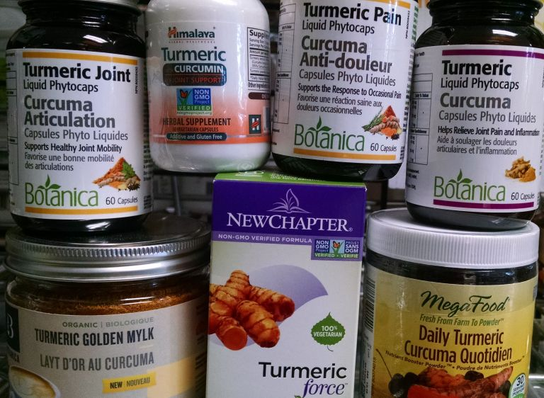 Variety of Turmeric products